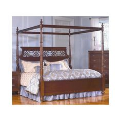 Picardy Canopy Poster Bed Waxed Cherry - Largo - LARGO-ST-B2110-BED--headboard is a bit tall but still pretty....like it...