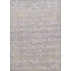 Heritage Collection Chantilly Rug in Dusty Blue & Silver Lining by Jaipur
