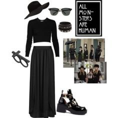 American Horror Story: Coven. All black outfit.