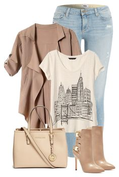 """""""Untitled #711"""" by seahag2903 ❤ liked on Polyvore featuring Paige Denim, Banana Republic, Michael Kors and GUESS"""