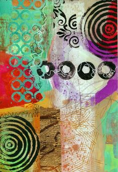 collage journeys: Making Postcards Video I'm a fan of Jane Davies' work.