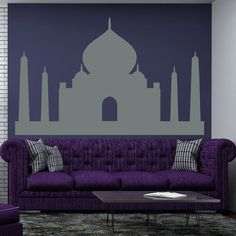 Taj Mahal Wall Decals India Monument Vinyl Sticker by DecalHouse