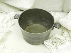 Antique French Metal Plant Pot Holder / French Decor / French