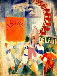 Delaunay, Robert - 1913 The Cardiff Team (Stedelijk van Abbemuseum, Eindoven, The Netherlands) Sonia Delaunay, Robert Delaunay, Cardiff, Marcel Duchamp, Cubist Paintings, Blue Rider, Francis Picabia, Art Base, Art For Art Sake