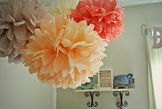 I want this for baby girls nursery! PomLove on Etsy $4.50 each