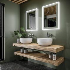 19 meilleures images du tableau Salles de bains vert foncé ...