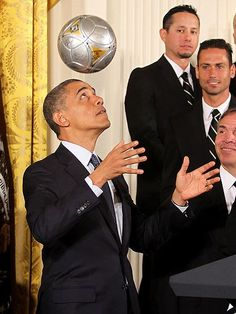 SCORE! photo | Barack Obama....look at the man staring..like a hater !!