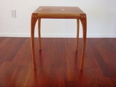 Maloof joints on a cherry side table - talkFestool