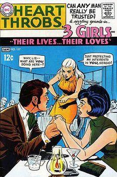 Heart Throbs #117 - Comic Book Cover Poster - Liz & Sergio!