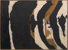 Robert Motherwell, Wall Painting No. III, 1953 Oil on canvas 54 x 72 in. Robert Motherwell, Willem De Kooning, Action Painting, Mark Rothko, Jackson Pollock, Abstract Expressionism Art, Abstract Art, De Kooning Paintings, Franz Kline