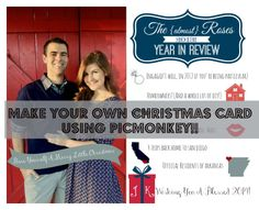 DIY Christmas cards using PICMONKEY! So easy and a GIANT cost saver!