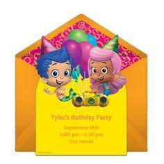 Bubble Guppies Birthday Online Invitation