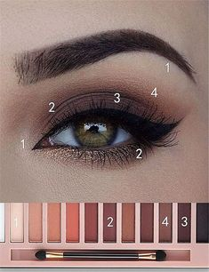 Make Up - Eye Makeup Tutorial; Eye makeup for brown eyes; Eye makeup, of course; Make up Daily Eye Makeup, Everyday Eye Makeup, Eye Makeup Steps, Everyday Eyeshadow, Natural Eye Makeup Step By Step, Make Up Guide, Make Up Marken, Natural Smokey Eye, Smokey Eye For Brown Eyes