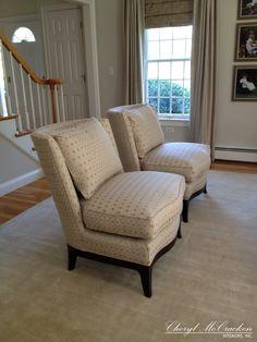 Raffone Pearson chairs in a Stroheim fabric.