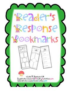 Free reader response bookmarks