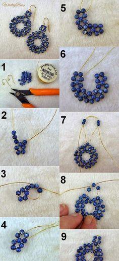 Relasé: Perlenohrringe in Form von Blumen - DIY Schmuck! - Relasé: Perlenohrringe in Form von Blumen – DIY Schmuck! Bead Jewellery, Wire Jewelry, Jewelry Crafts, Jewelery, Jewellery Making, Tanishq Jewellery, Beaded Jewelry Designs, Beading Jewelry, Jewelry Making Beads