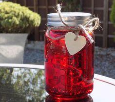 Firefly Mason Jar - Red
