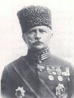 """Umar Fakhr ud-Din Pasha better known as Fakhri Pasha was the commander of Ottoman army and governor of Medina from 1916 to 1919. He was nicknamed """"The Lion of the Desert"""" and """"The Tiger of the Desert"""" by the British for his patriotism in Medina."""