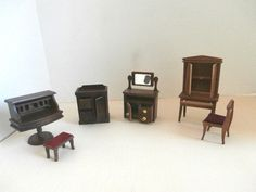 Doll House 7 Pieces Office Bedroom Furniture Desk Dry by Pascalene, $55.00