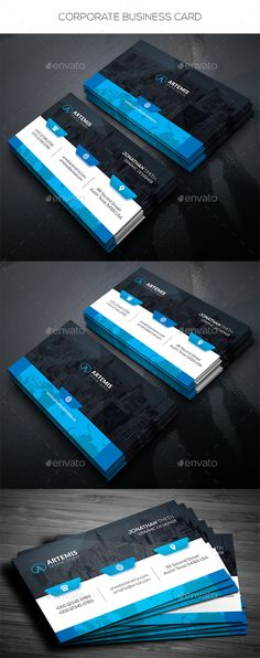 Business card design suitable for companies or personal use. Download here: https://graphicriver.net/item/corporate-business-card/17265023?s_rank=28