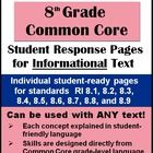 CCRS Informational Text Response Pages