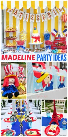 What an incredible Madeline girl birthday party! Fun activities and gorgeous party decorations! See more party ideas at CatchMyParty.com1