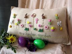 Mi almohada de Pascua jardín estilo casa de campo por PillowCottage