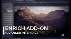 Enrich Add-on for Blender Sneak Peek: Advanced Interface Blender 3d, Blender Models, Blender Addons, Top Blenders, Blender Tutorial, Illustrator Tutorials, Art Tutorials, Tech Art, Modeling Tips