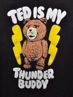 TED Movie Ted is my Thunder Buddy Buddies T Shirt Men Medium Ripple Junction #RippleJunction #BasicTee