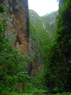 Vaipo Waterfall Canyon, Nuku Hiva in the Marquesas Islands, French Polynesia