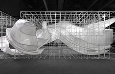 """Alternating Potential of Order Construction—2015 PONE ARCHITECTURE Experience Pavilion """"Transparent Shell"""" by plz 