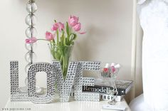 Cardboard Letter Sequin Sayings | 25 Gorgeous DIYs For Your Teenage Girl's Room