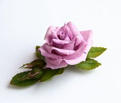Hey, I found this really awesome Etsy listing at https://www.etsy.com/listing/169499482/lilac-rose-barrette-polymer-clay-flower