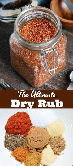 The Ultimate Dry Rub recipe This is a great Dry Rub for ribs for chicken brisket chicken wings and more Use this dry rub on any meat that you re grilling smoking or cooking in the oven meats spices dryrub spicemix grilling bakedmeats Rub For Pork Ribs, Pork Dry Rubs, Bbq Dry Rub, Ribs In Oven, Ribs On Grill, Beef Ribs Dry Rub Recipe, Spice Rub For Ribs, Smoked Ribs Dry Rub, Dry Rub For Brisket