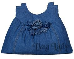 Recycle Old Jeans Into A Ruffled Tote Bag Purse @baglady