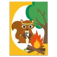 Oktoberdots Postkaart Indianen Eekhoorn
