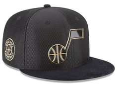 various colors ed211 3c172 Utah Jazz New Era NBA On-Court Black Gold Collection 9FIFTY Snapback Cap
