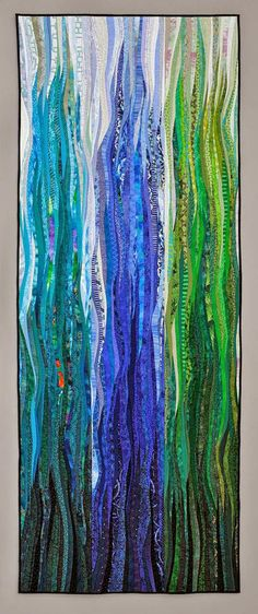 Blue Flame by Ann Brauer- contemporary art quilt