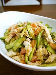 鶏ささみのトマトときゅうりの中華和え♪ by bvivid [クックパッド] 簡単おいしいみんなのレシピが141万品
