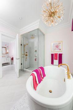 8 Fabulous Designer Upgrades For Your Master Bathroom Floating Cabinets, Shower Shelves, Floor Patterns, Custom Cabinets, Home Bedroom, Master Bathroom, Bathroom Designs, Bathroom Ideas, Interior Design