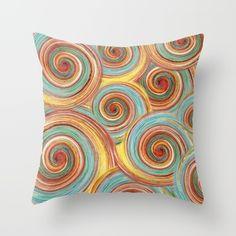 Spin Me Some Colour Throw Pillow