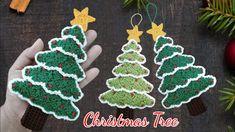 Christmas Themes, Christmas Tree Ornaments, Holiday Decor, Christmas Gift Card Holders, Crochet Christmas Gifts, Diy Phone Case, Xmas Crafts, Crochet Earrings, Crochet Tutorials