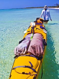 I am already planning this for our 9 or 10 year anniversary! Camping and kayaking between deserted islands in the Bahamas! Camping En Kayak, Canoe And Kayak, Kayak Fishing, Outdoor Camping, Sea Kayak, Kayaks, Canoes, Bahamas Island, Kayak Paddle
