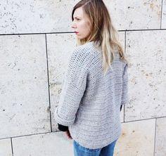 Crochet PATTERN-  The Grace Cardigan Sweater Pattern- Chunky Crochet Cardigan…