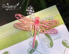 Zauberhaft handgemacht, große Geschenktasche, Libelle, Peaceful Reflection, SU