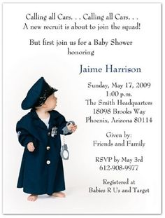 Police officer cop girl baby shower invitation 5x7 baby stuff police officer cop girl baby shower invitation 5x7 baby stuff pinterest shower invitations babies and police baby filmwisefo