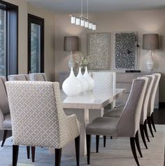 Dinning room Idea | Chairs only, not the table.