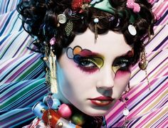 Fantasy Geisha #hairstyle Trucco occhi Carnevale