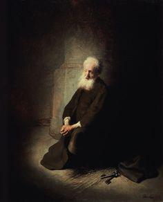 Rembrandt van Rijn - St. Peter in prison.