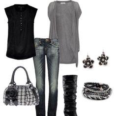I love black & grey